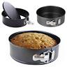 """8"""" Non Stick Spring Form Round Cake Baking Bake Tin Tray Pan Bakeware"""