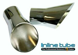 69-72 Oldsmobile Hurst Olds 442 W-30 Rallye 350 Trumpet Tail Pipe Chrome Tips