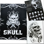 76 Pages Selected Skull Design Sketch Flash Book Tattoo Art Supplies A4 HUQ