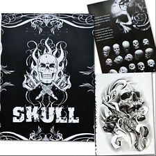 76 Pages Selected Skull Design Sketch Flash Book Tattoo Art Supplies JX