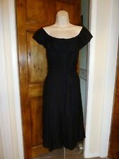 Lovely black off the shoulder evening Tea dress from YUMI size 12