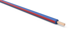 TXL Automotive Wire 20 AWG DARK BLUE w/ RED Stripe Bulk 50 ft Primary Copper