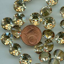 1028 SS45 GS u *** 4 STRASS SWAROVSKI FOND CONIQUE 10MM GOLDEN SHADOW U