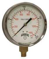 Winters Pem225lf Gauge,Pressure,0 To 200 Psi,4 In.