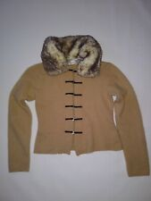 Kenji angora wool button cardigan jacket coat sweater rabbit fur vtg