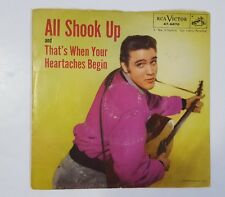 Elvis Presley - All Shook Up / That's When Your Heartaches Begin - 45 rpm Record