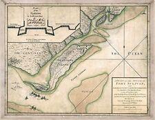 1776 MAP South Carolina, antique, Fort Sulivan, American Revolutionary War,20x16