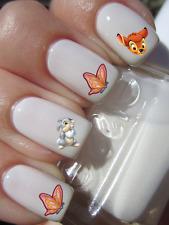 Disney Bambi Panpan Papillon ongles manucure nail art water decal sticker