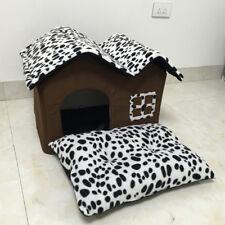 Puppy Cat Bed House Dog Sleeping Nest Mat Pet Cushion Corduroy+Sponge Kennel