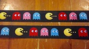 NEW Pac Man Grossgrain Ribbon 22mm 1M,2M,3M,4M or 5M U Choose