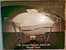 New listing Godinger Siena 1 qt. Covered Ceramic Baker with Rack