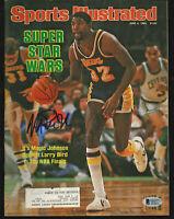 Lakers Magic Johnson Signed June 1984 Sports Illustrated Magazine BAS #MJ00971