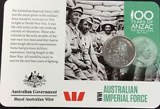2015 Anzac centenary imperial force  20 cents UNC