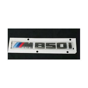 Genuine BMW 8-Series Cerium Gray Trunk Emblem M850i Lettering Badge 51148079112