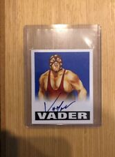 Vader Auto # /25 Blue - 2012 Leaf Wrestling Originals wwe wwf wcw RIP!