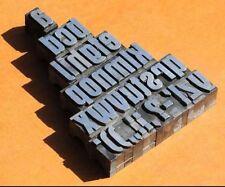 a-z Bleischrift 27mm Bleialphabet Buchstaben Letter Stempel Bleistempel Blei