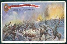 Militari 63º Reggimento Fanteria Cagliari Polazzo PIEGA cartolina XF5220