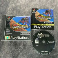 No Fear Downhill Mountain Biking PS1 PlayStation 1 PAL Game Complete Bike Racer