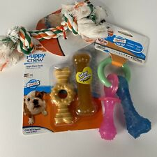 Puppy Teething Chew Toy Pacifier Bones Flossy Rope Chew Nylabone Mammoth
