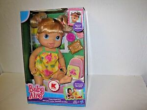 Baby Alive Pretty in Pigtails Blonde Baby Doll by Hasbro Brand New