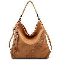 Dasein Women Large Hobo Handbags Faux Leather Shoulder Bags Crossbody Tote Purse