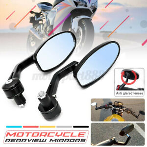 7/8'' Foldable Motorcycle Bar End Rear Side View Mirrors For Suzuki For Honda