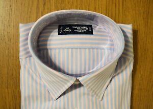 NWT KAMAKURA TOKYO SLIM DRESS SHIRT SZ 15.5/32.5 MANHATTAN MODEL BLUE PINK