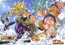 Poster A3 Dragon Ball Goku Vegeta Gogeta Super Saiyan Ultra Instinct Manga Anime