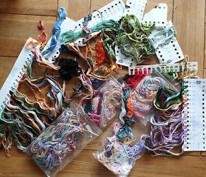 Bundle of Cross Stitch Threads  -  Mixed Colours    JOB LOT