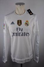 Real Madrid Herren Home Trikot S / XL / 3XL adidas LFP LS FIFA Patch 2015-2016