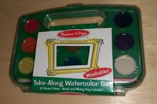 Melissa & Doug Take Along Watercolor Set Washable Art Essentials Colors Painting