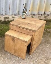 Pair of Industrial Up-Cycled nest of tables.