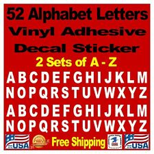 A-Z Alphabet Letters 2 Sets Truck Jeep Car Window Vinyl Decals Stickers