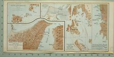 MAP/BATTLE PLAN ISCHIA PROCIDA NORTH EAST SICILY STRAITS OF MESSINA SANTA MAURA