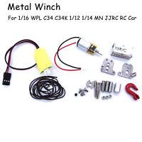 Für WPL MN RC Climbing 1:16 RC Auto Elektrische Seilwinde Metall Winde Upgrade