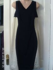 NAVY BLUE AND CREAM DRESS, SIZE 16