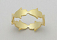 Solid Sterling Silver Vermeil 14K Yellow Gold Chamsa Band Ring sz 7