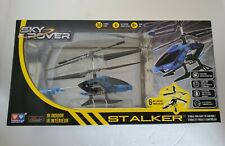 Sky Rover Stalker IR Indoor Helicopter Toy Blue 3 Channel 6-Way Remote Control