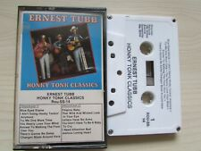 ERNEST TUBB 'HONKY TONK CLASSICS' CASSETTE, RARE MADE IN USA TAPE, TESTED.