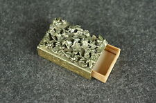 Museum quality antique reticulated metal matchbox cover ca. 1900 [Y9-W6-A9]