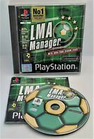 LMA Manager Video Game for Sony PlayStation PS1 PAL TESTED