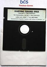 Karting Grand Prix COMMODORE 64 Kingsoft 1989 C64 game Spiel Diskette Rennspiel
