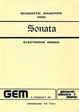 GEM SONATA Service Manual Schematic Diagrams Schaltplan Manuale Schéma 25 pages