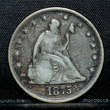 1875-P 20 CENT PIECE ✪ VF DETAILS ✪ 20C SILVER VERY FINE CLEANED L@@K ◢TRUSTED◣