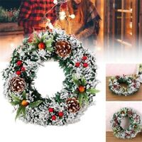 Christmas Xmas Wreath Wall Door Hanging Ornament Garland Wedding Party Decor