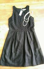 Black Embroidered dress By The Loft