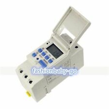 DIN Rail Digital LCD Power Programmable Timer Time SwitchTHC 15A DC 110V AC 220V