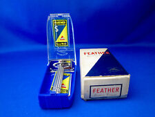FEATHER No.310 Vintage Safety Razor Made In Japan 1960's  UNUSED NEAR MINT COND.