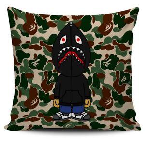 Shark Black Hoodie Bape Cover Cushion Sofa Case