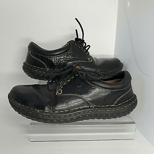 Born Oxford Casual Shoes Womens 8 Comfort Round Toe Leather Black W3540